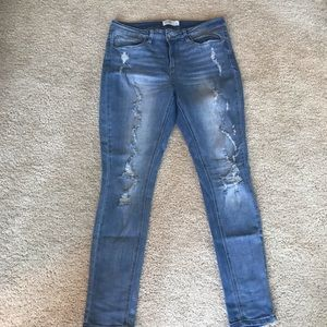 Skinny Mudd Ripped Jeans
